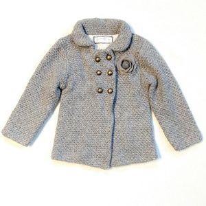 Zara Knitwear Girl's Gray Sweater Cardigan 24-36